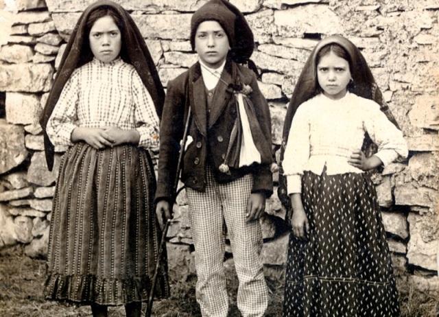 The three Fatima visionaries: Lucia, Francisco and Jacinta