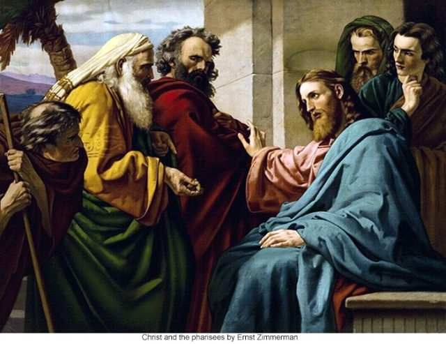 Christ and the Pharisees by Ernst Simmerman